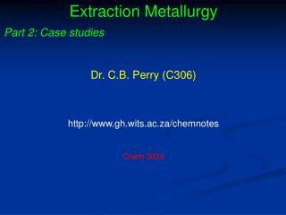 Extraction Metallurgy