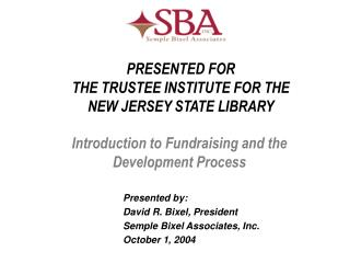 Introduction to Fundraising and the Development Process