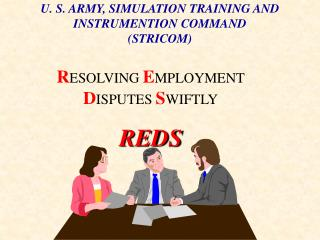 U. S. ARMY, SIMULATION TRAINING AND INSTRUMENTION COMMAND (STRICOM)