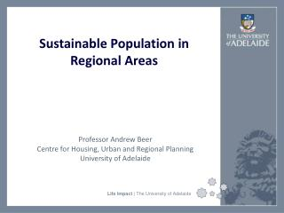 Sustainable Population in Regional Areas