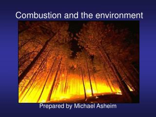 Combustion and the environment