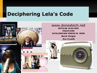 Deciphering Lela's Code
