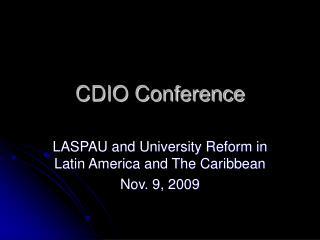 CDIO Conference