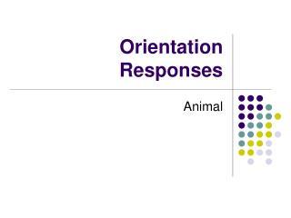 Orientation Responses