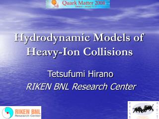 Hydrodynamic Models of Heavy- I on Collisions