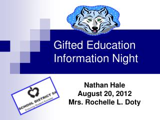 Gifted Education Information Night