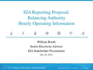 EIA Reporting Proposal: Balancing Authority Hourly Operating Information