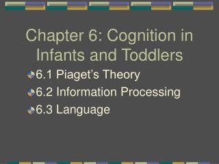 Chapter 6: Cognition in Infants and Toddlers