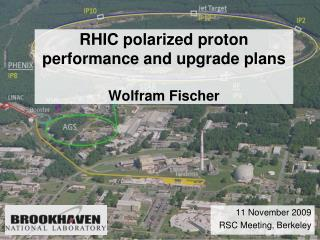 RHIC polarized proton performance and upgrade plans Wolfram Fischer