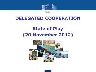 DELEGATED COOPERATION State of Play (20 November 2012)
