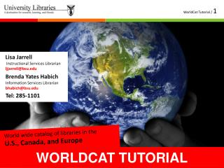 WORLDCAT TUTORIAL