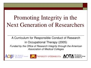 Promoting Integrity in the Next Generation of Researchers