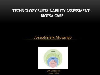 TECHNOLOGY SUSTAINABILITY ASSESSMENT: BIOTSA CASE