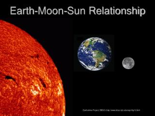 Earth-Moon-Sun Relationship