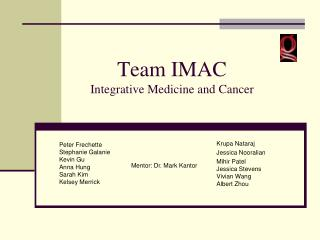 Team IMAC Integrative Medicine and Cancer