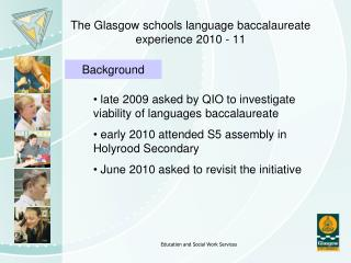 The Glasgow schools language baccalaureate experience 2010 - 11