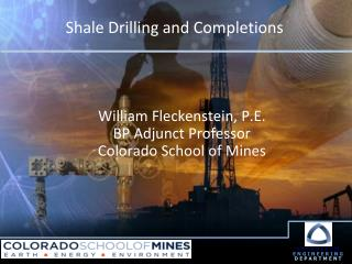 Shale Drilling and Completions