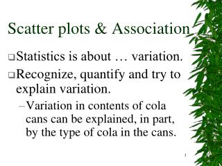 Scatter plots & Association