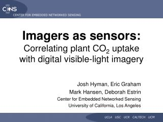 Imagers as sensors: Correlating plant CO 2  uptake with digital visible-light imagery