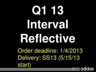 Q1 13 Interval Reflective