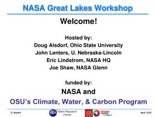 NASA Great Lakes Workshop