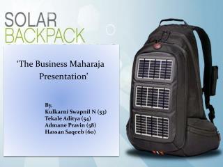 'The Business Maharaja Presentation'