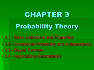 CHAPTER 3 Probability Theory