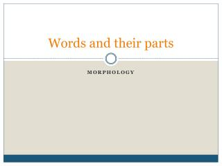 Words and their parts