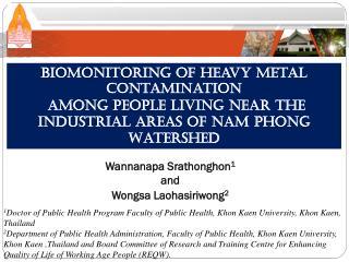 Biomonitoring of Heavy Metal  Contamination