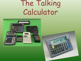 The Talking Calculator