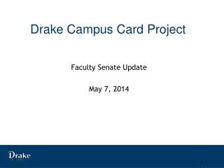 Drake Campus Card Project