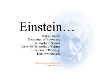 Einstein…