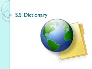 S.S. Dictionary