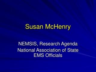 Susan McHenry