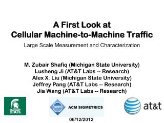A First Look at  Cellular Machine-to-Machine Traffic
