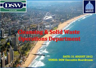 Cleansing & Solid Waste  Operations Department