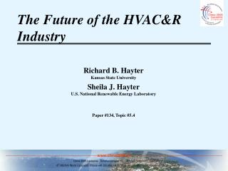 The Future of the HVAC&R Industry