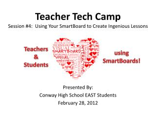 Teacher Tech Camp Session #4:  Using Your  SmartBoard  to Create Ingenious Lessons