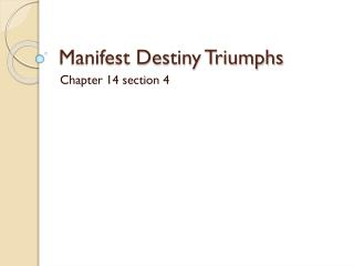 ap chapter 13 manifest destiny