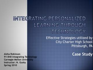 Integrating Personalized Learning Through Technology