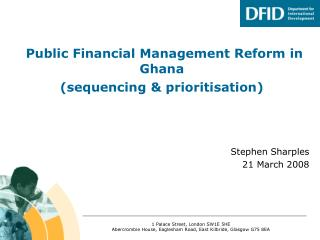 Public Financial Management Reform in Ghana (sequencing & prioritisation)