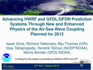 Interdepartmental Hurricane Conference, March 2012