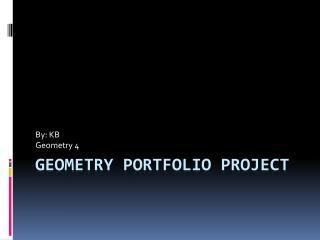 Geometry Portfolio Project