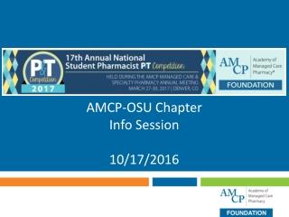 AMCP-OSU Chapter Info Session 10/17/2016