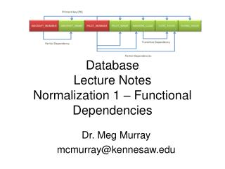 Database Lecture Notes Normalization 1 – Functional Dependencies