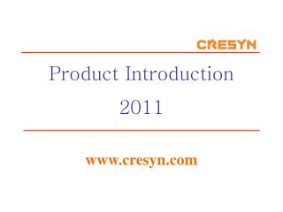 Product Introduction 2011