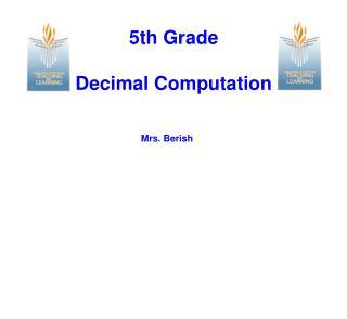 5th Grade Decimal Computation