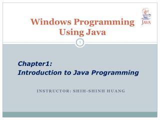 Windows Programming Using Java