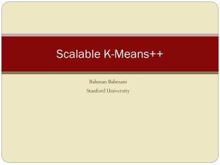 Scalable K-Means++