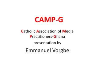 CAMP-G
